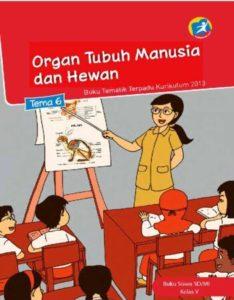 Buku Siswa Tematik 6 Organ Tubuh Manusia dan Hewan Kelas 5 Revisi 2014