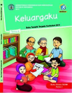 Buku Siswa Tema 4 Keluargaku Kelas 1 Revisi 2017