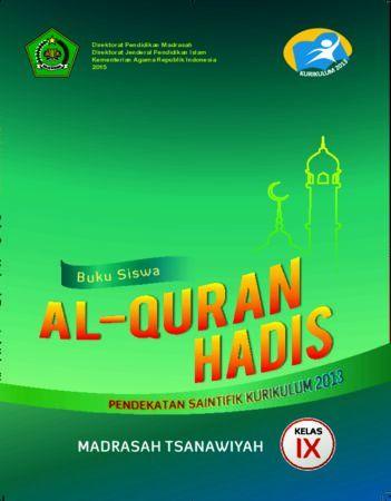 Buku Siswa Al-Qur'an Hadis Kelas 9 Revisi 2016