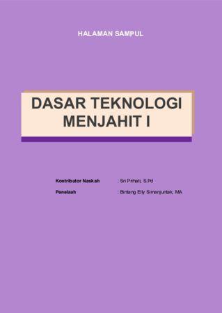 Dasar Teknologi Menjahit 1 Kelas 10 SMK