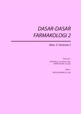 Dasar Dasar Farmakologi 2 Kelas 10 SMK