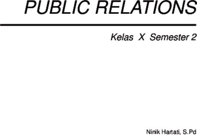 Public Relations 2 Kelas 10 SMK