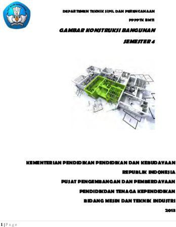 Gambar Konstruksi Bangunan 4 Kelas 11 SMK