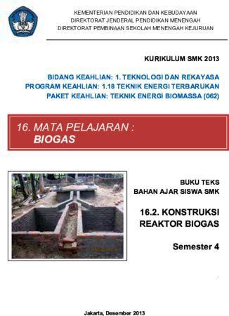 Konstruksi Reaktor Biogas 2 Kelas 11 SMK