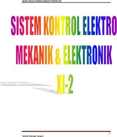 Sistem Kontrol Elektro Mekanik dan Elektronik 2 Kelas 11 SMK