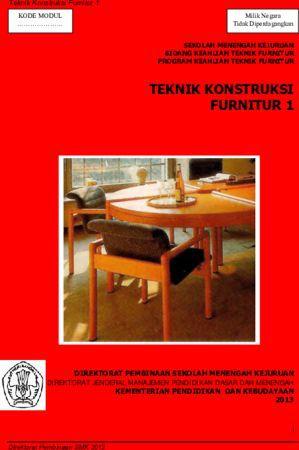 Teknik Konstruksi Furnitur 1 Kelas 11 SMK