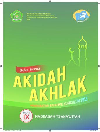 Buku Siswa Akidah Akhlak Kelas 9 Revisi 2016