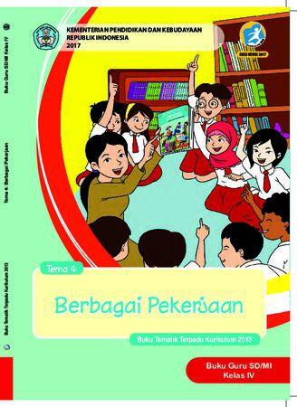 Buku Guru Tema 4 Berbagi Pekerjaan Kelas 4 Revisi 2017
