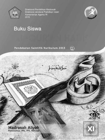 Buku Siswa Al-Qur'an Hadis Kelas 11 Revisi 2015